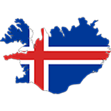Iceland Country Flag And Shape