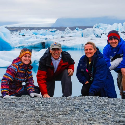 Iceland's Glacier Lagoon Family Photo