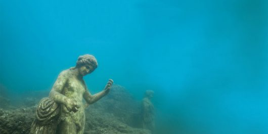 Some Underwater Statues at the Baiae Underwater Dive Site