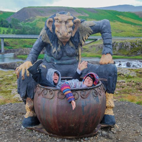 Joey and Ali in the Tolls Cauldron