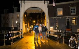Joey, Claudette And Maart In Amsterdam