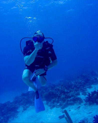 Joey Scuba Diving in Cuba