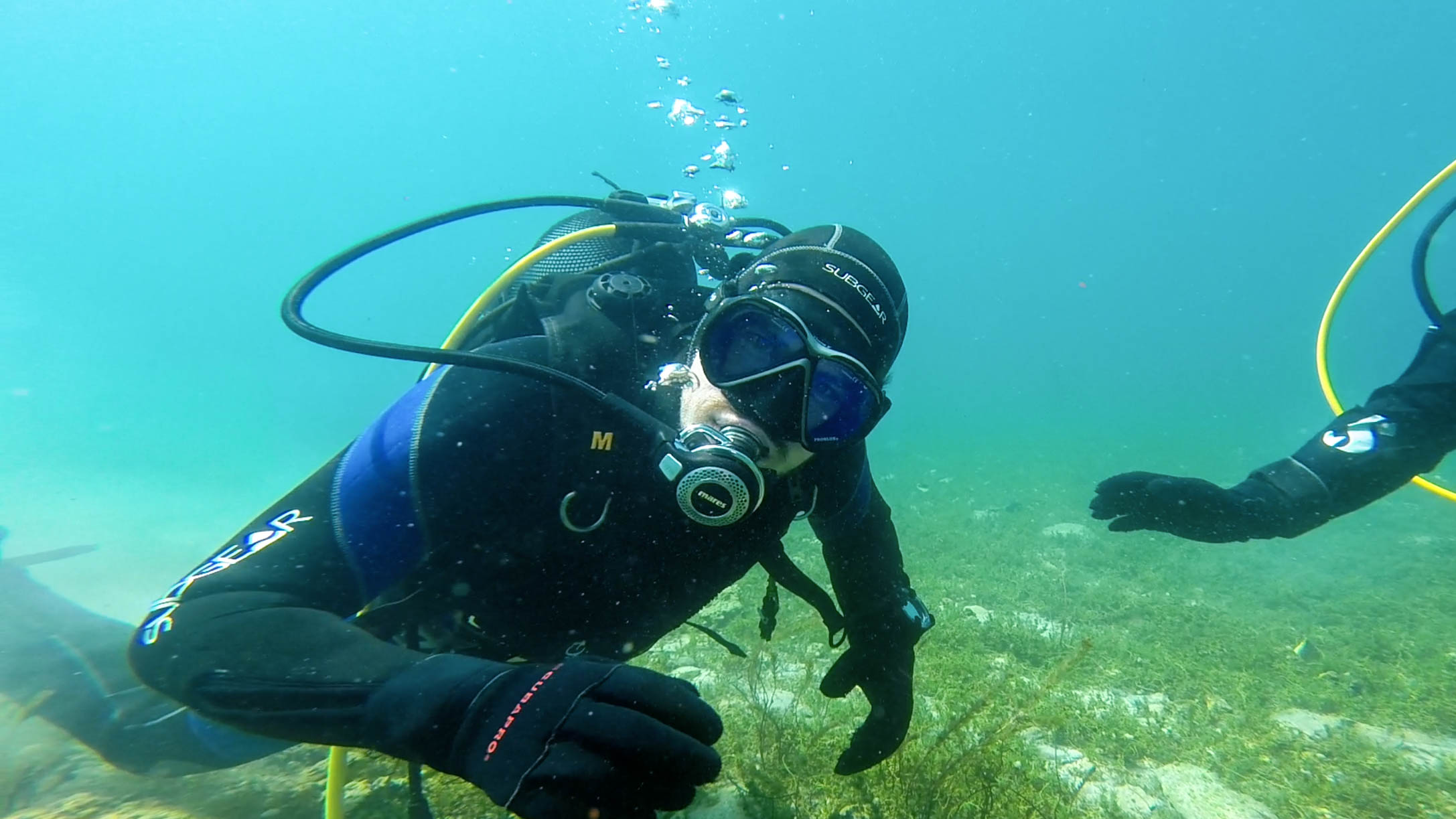 Joey Excited To Learn About History While Scuba Diving The Bay Of Bones