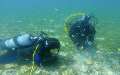 Joey Getting An Archeology Lesson From Our Divemaster