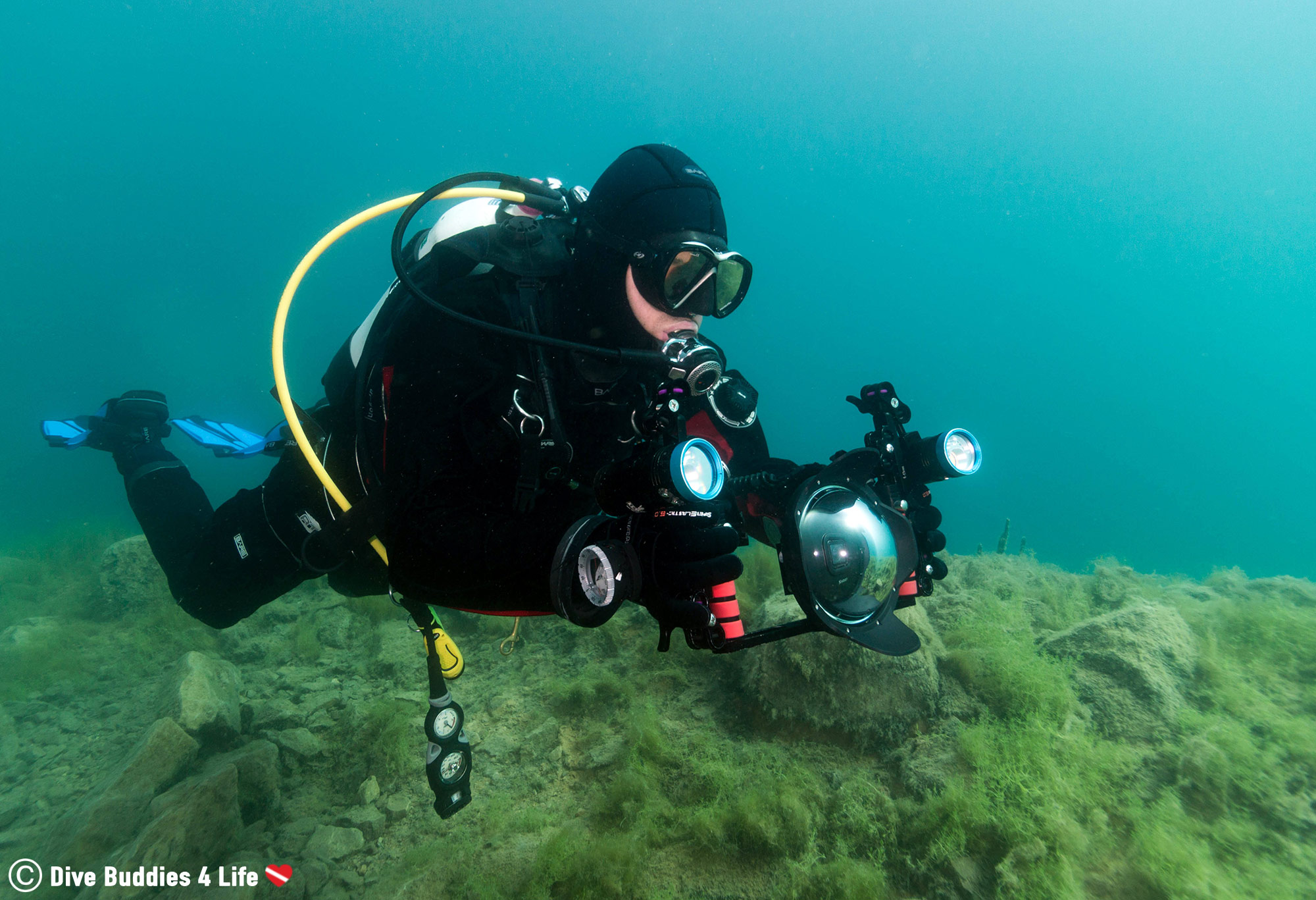 Joey Learning To Scuba Dive And Shoot Videography In A Quarry