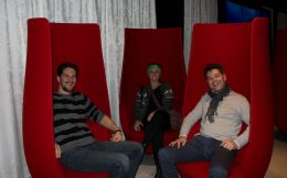 Joey, Maart And Ali On The Tulip Chairs
