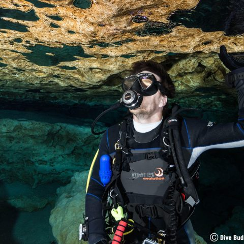 Joey Observing The Roof Of The Ginnie Springs Ballroom In Florida