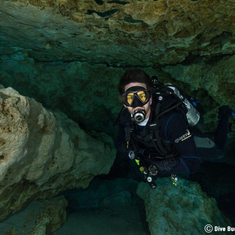 Joey Scuba Diving In The Funky Rocks Of Ginnie Ballroom Cave