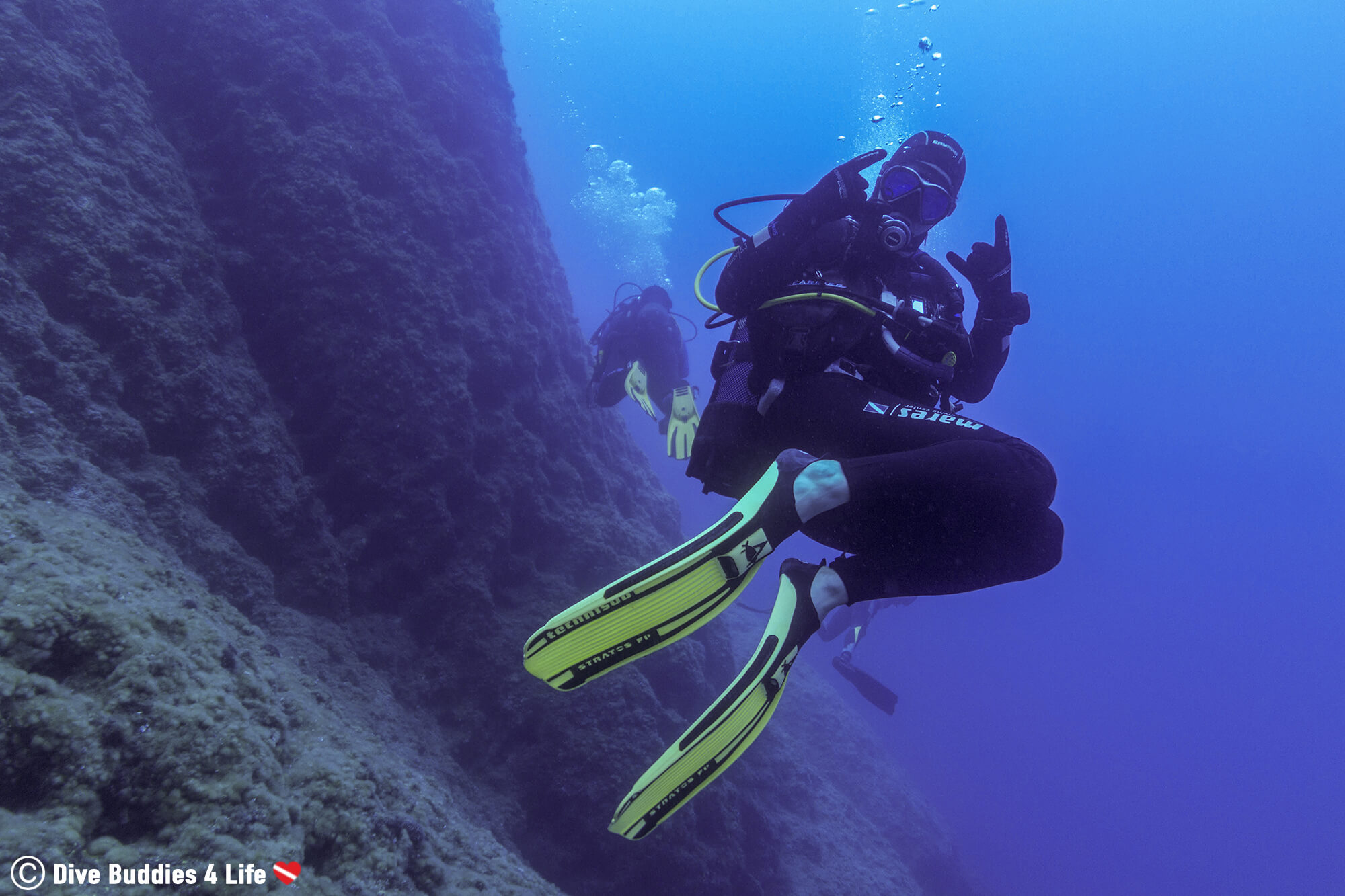 Joey Showing His Scuba Diving Enthusiasm On Zakynthos, Greece