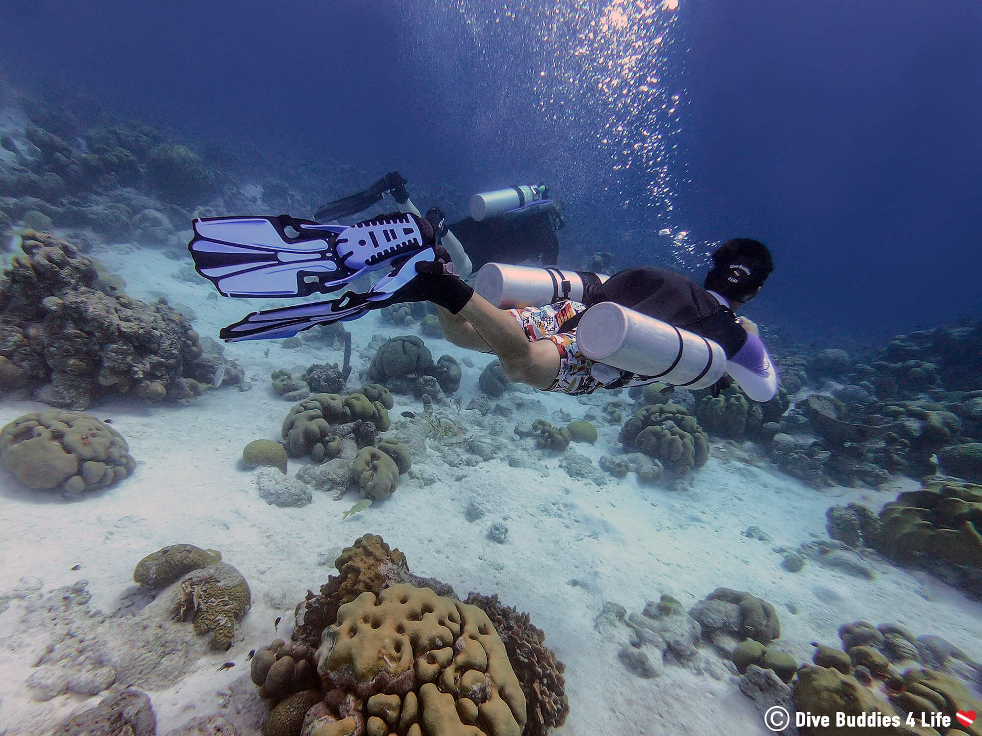 Joey Sidemount Diving In Bonaire At Buddy Dive TeK Week, Dutch Caribbean