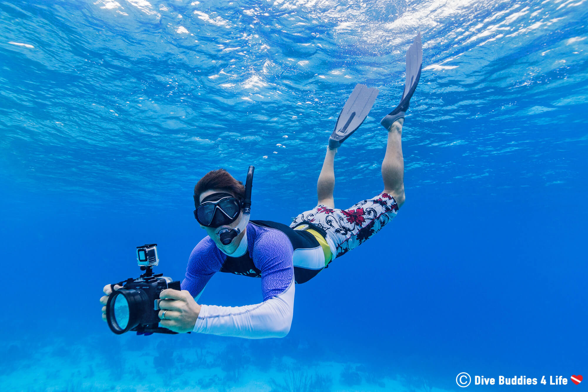 Joey Snorkelling On Bonaire In His Dive Skin To Keep Warm