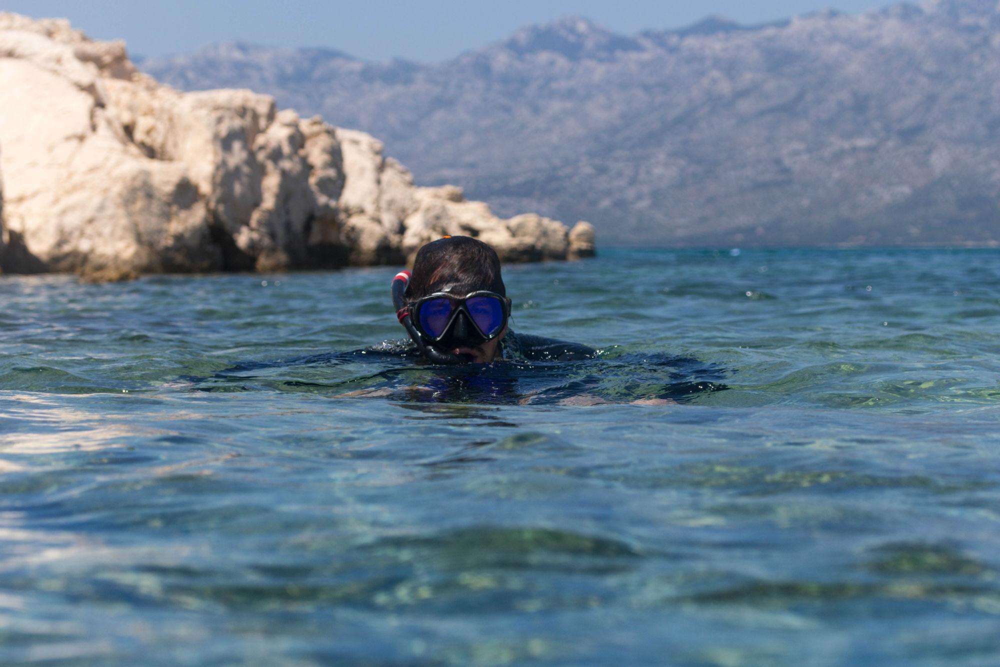 Joey Snorkeling The Dalmatian Coast In Croatia
