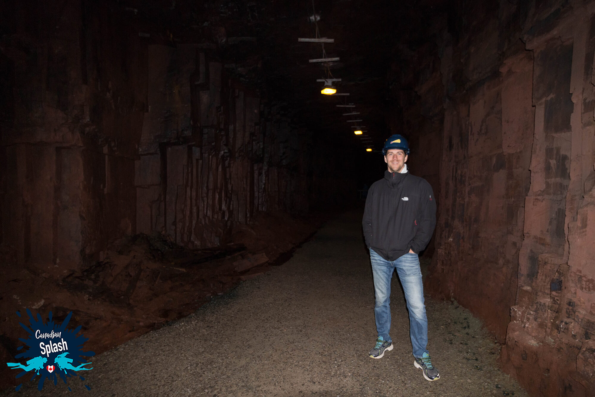 Joey Underground In The Mine Of Bell Island, Newfoundland As A Surface Interval Activity To Canadian Splash