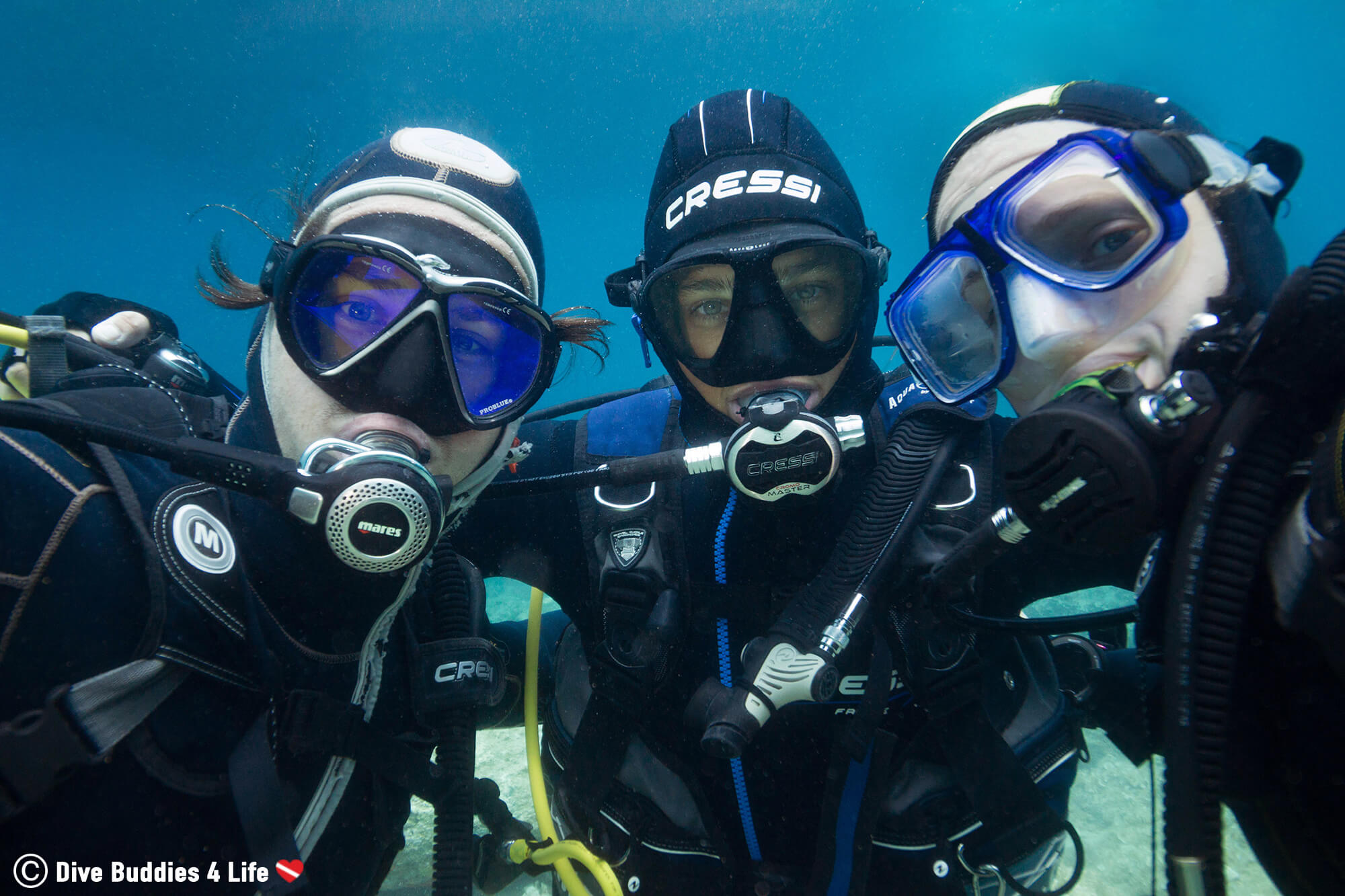 Joey, Victor And Ali Scuba Diving Friends In Budva Montenegro, Europe's Balkan Countries