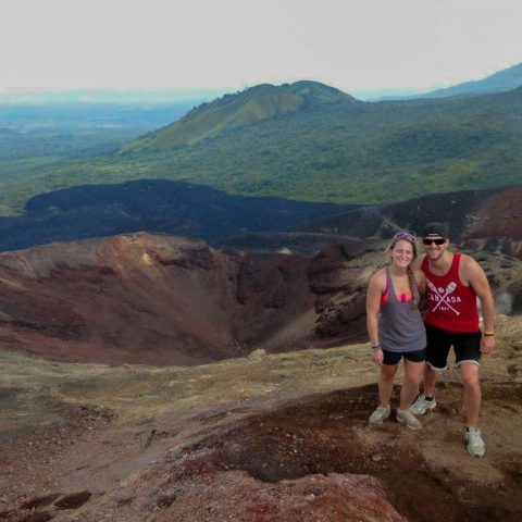 Joey and Ali at the Crater