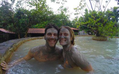 Joey and Ali in Costa Rican Mud Bath