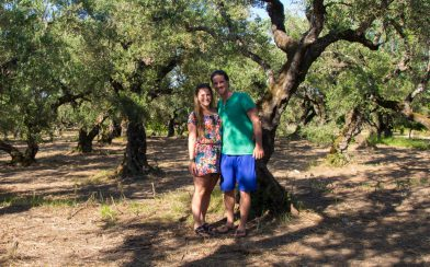 Joey And Ali In The Olive Orchard Of Zakynthos