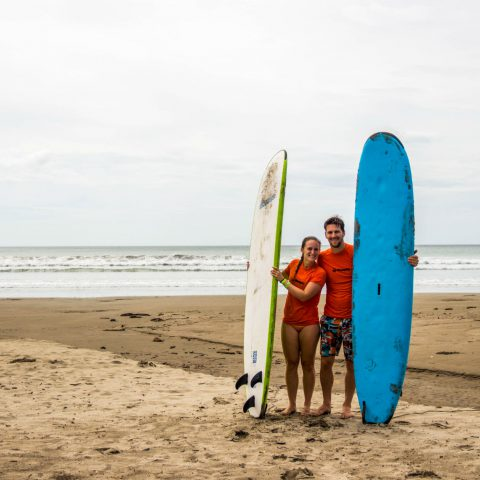 Joey and Ali with our Boards