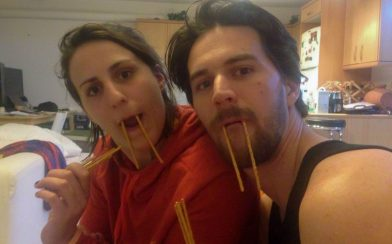 Joey and Beaner Being Walruses
