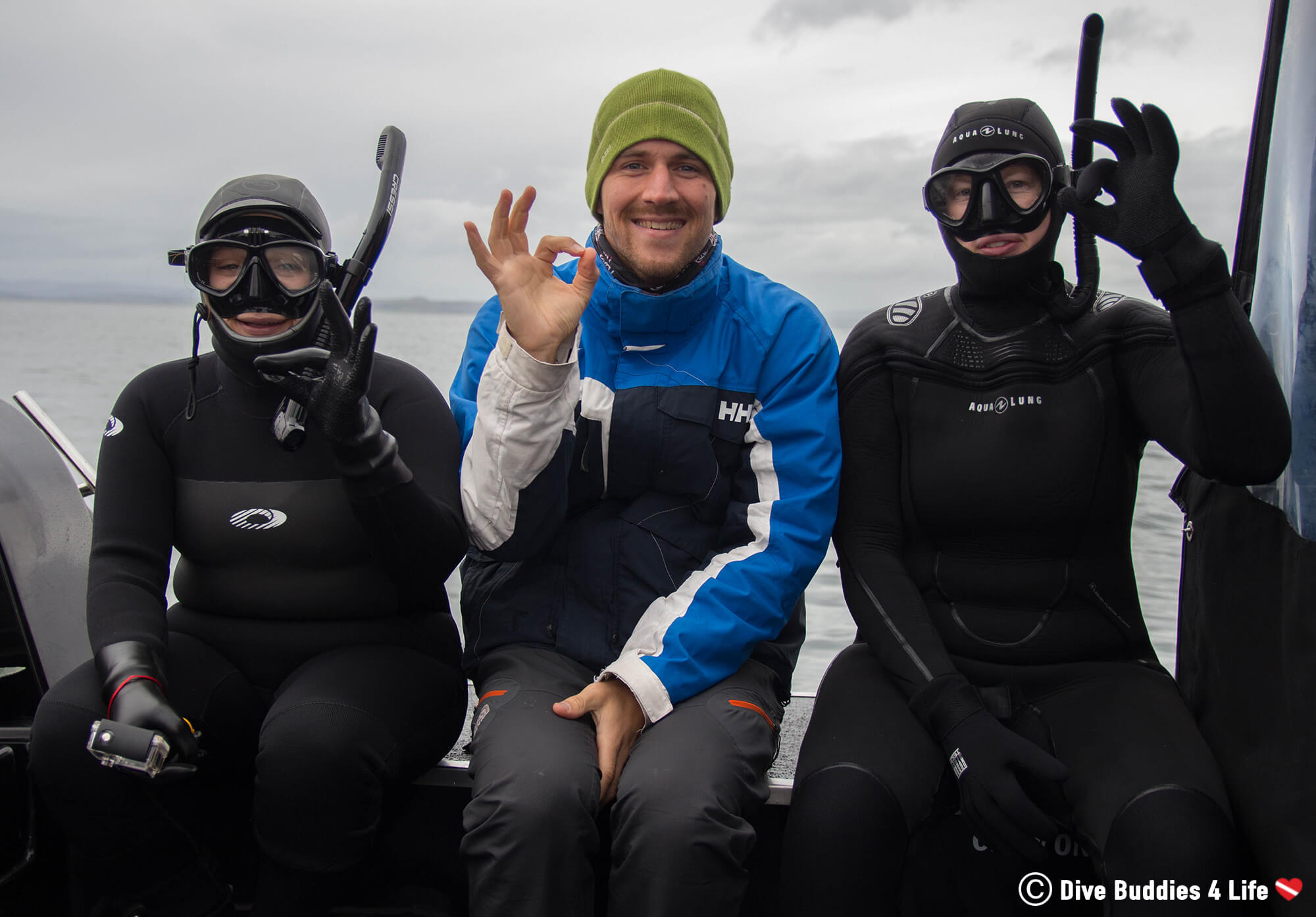 Joey And Two Snorkellers Getting Ready To Hit The Water And See Basking Sharks In Scotland, UK