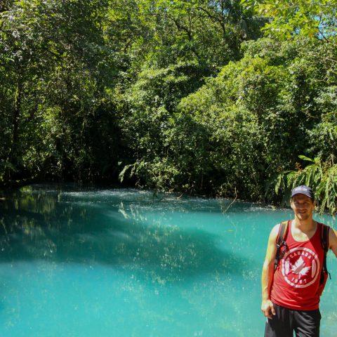 Joey and the Blue Rio Celeste Lagoon