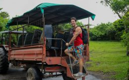 Joey and the Costa Rica Tour Tractor