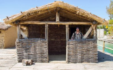 Joey And The Wooden And Straw Huts Of Lake Ohrid