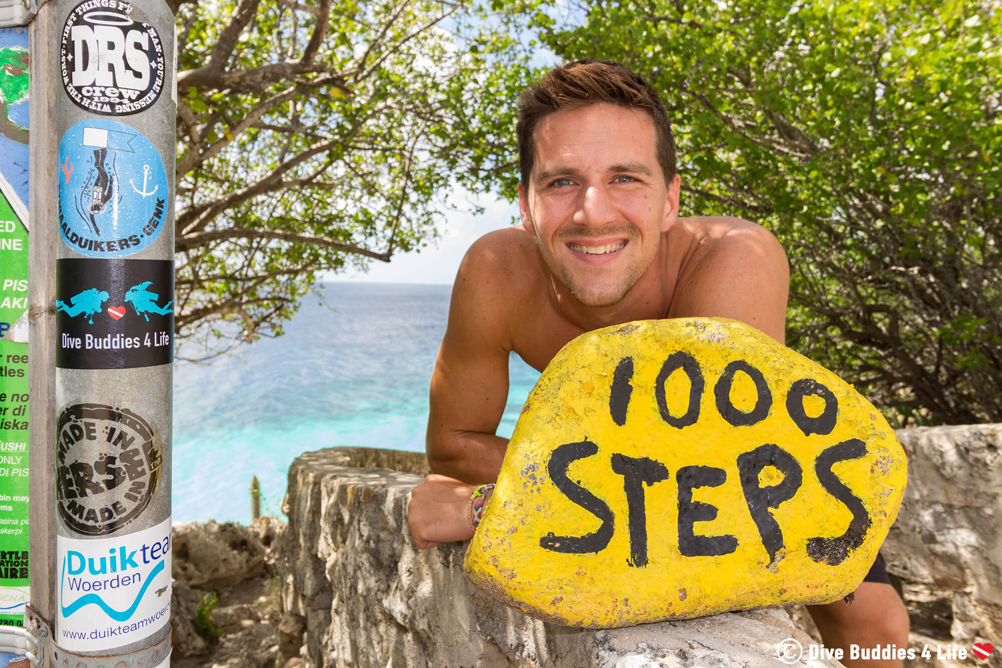 Joey At The 1000 Steps Dive Site On Bonaire, Scuba Diving The Dutch Caribbean
