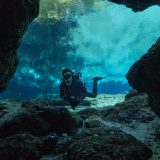 Joey In The Opening of the Ginnie Springs Crevice