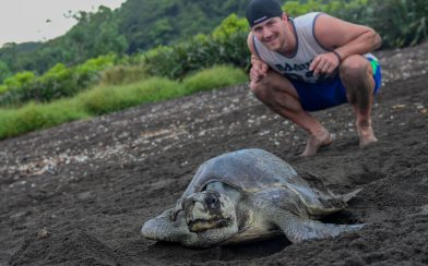 Joey with a Turtle