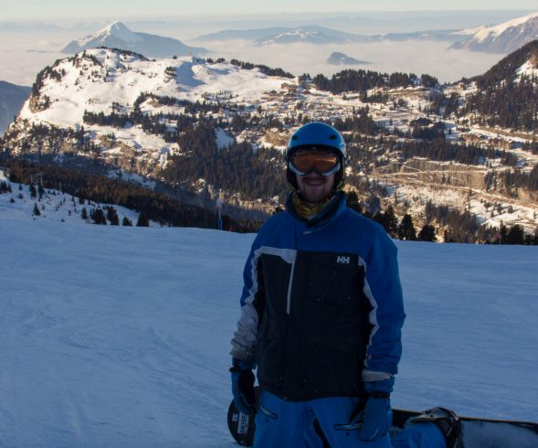 Joey With The Flaine Valley In The Background
