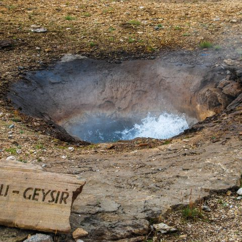 Liti Geysir with Bubbling Water