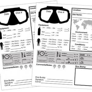 Logbook Print Yourself Pages Dive Shop