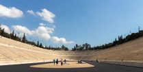 Looking Across at the Panathenaic Stadium in Athens, Greece, Europe