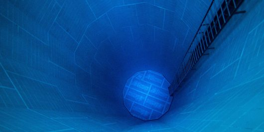 Looking Down Into The Bottom Of The Second Deepest Diving Pool In The World, The Nemo 33 In Belgium, Europe