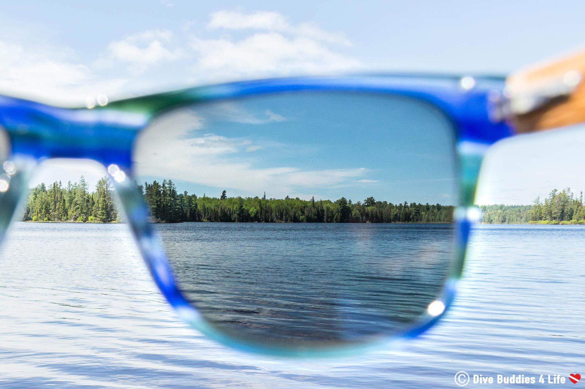 Looking Through The Polarized Lens Of A Wildwood Sunglass In Northern Ontario