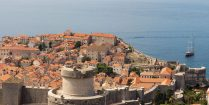 Travel Buddies Looking Out Over Old Town Dubrovnik The Location Of The Game Of Thrones Filming