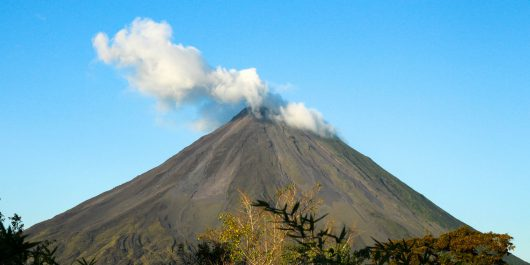 The Looming Natural View of the Arenal Volcano