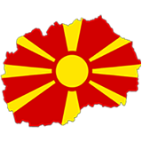 Macedonia Country Flag And Shape