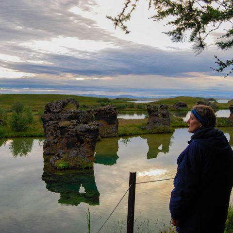 Mom Looking at the Lake