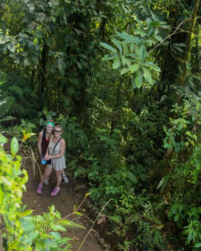 Mom and Ali in the Jungle of Tenorio Volcano National Park