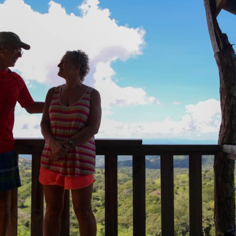 Mom and Dad at the Costa Rican Horizon Lookout