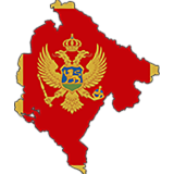 Montenegro Country Flag And Shape