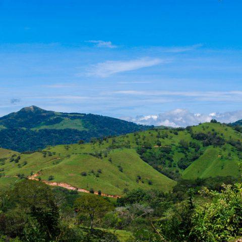 The Mountainous Horizon on our Way to Monteverde, Costa Rica