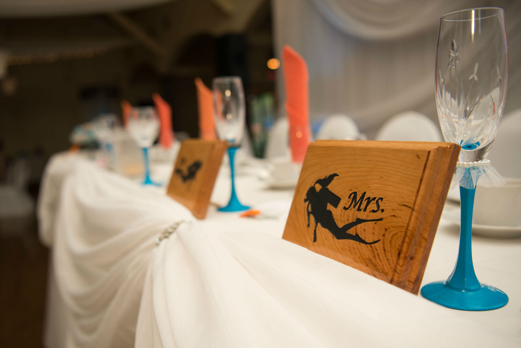 Mr And Mrs Scuba Signs