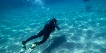 Nadine Learning to Scuba Dive and Swimming Along The Bottom of the Ocean in Greece, Europe