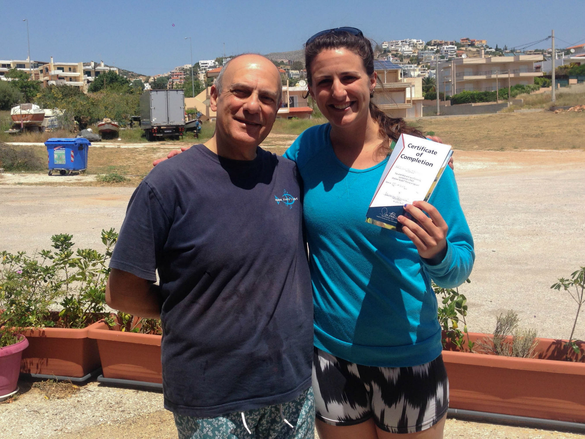 Nadine And Instructor Maximo