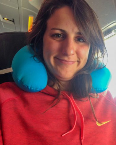 Nadine on Plane
