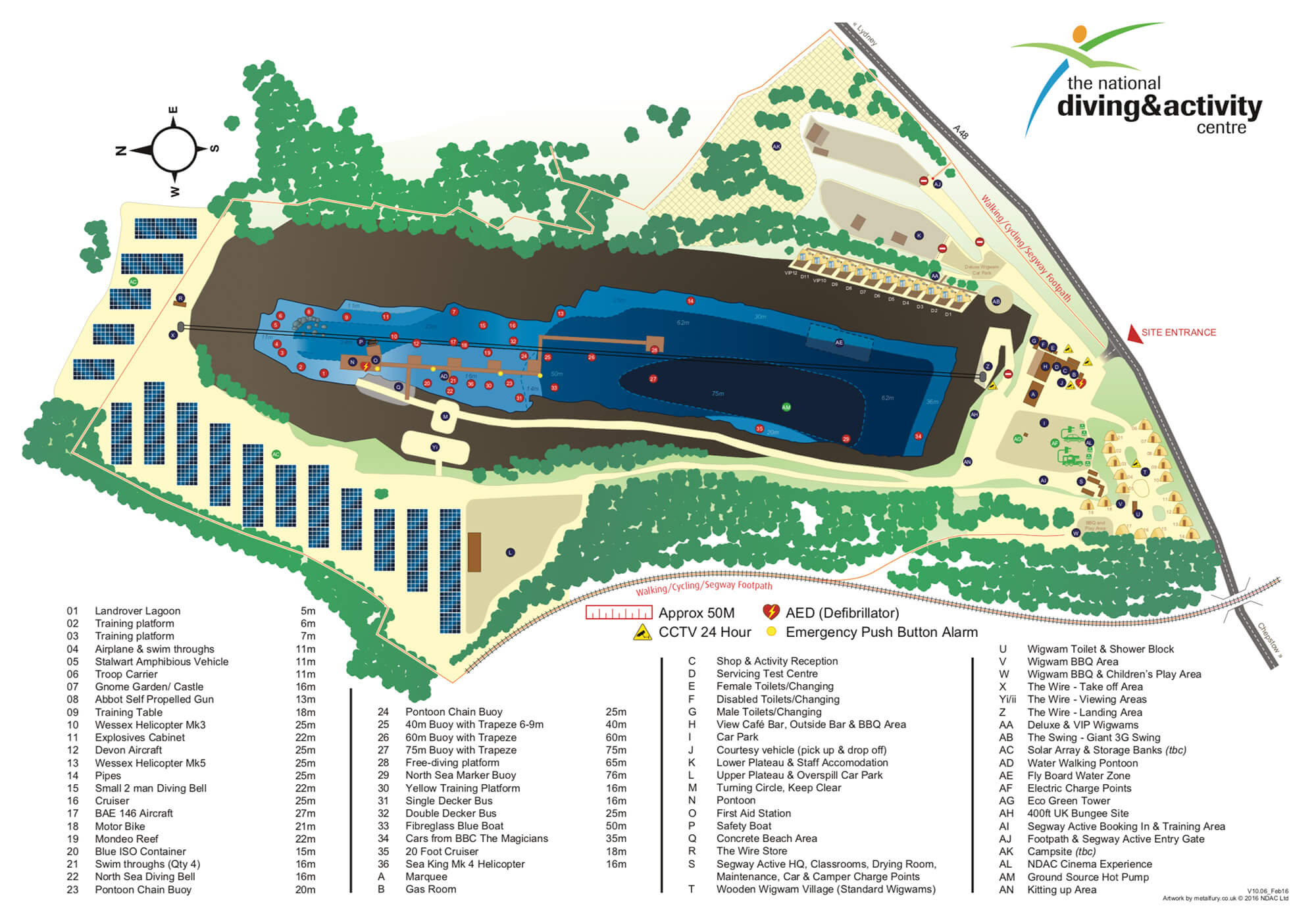 National Diving Academy In Chepstow Scuba Diving Site Map, Wales, UK