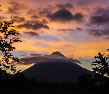 Nicaragua Volcano at Dusk